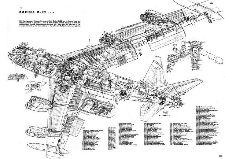 1955 Boeing B-52 'Stratofortress' #cutaway: Photos
