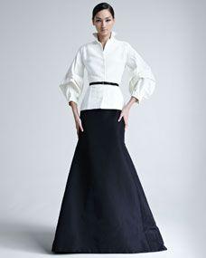 Silk Faille Blouse & Gown Skirt