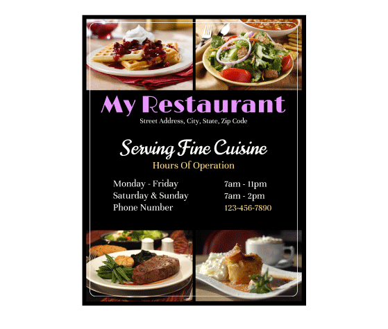 Download This New Restaurant Flyer Template And Other Free