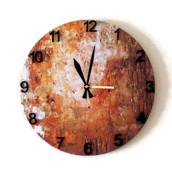 Wall Clock Autumn Copper Decor Home and Living by Shannybeebo