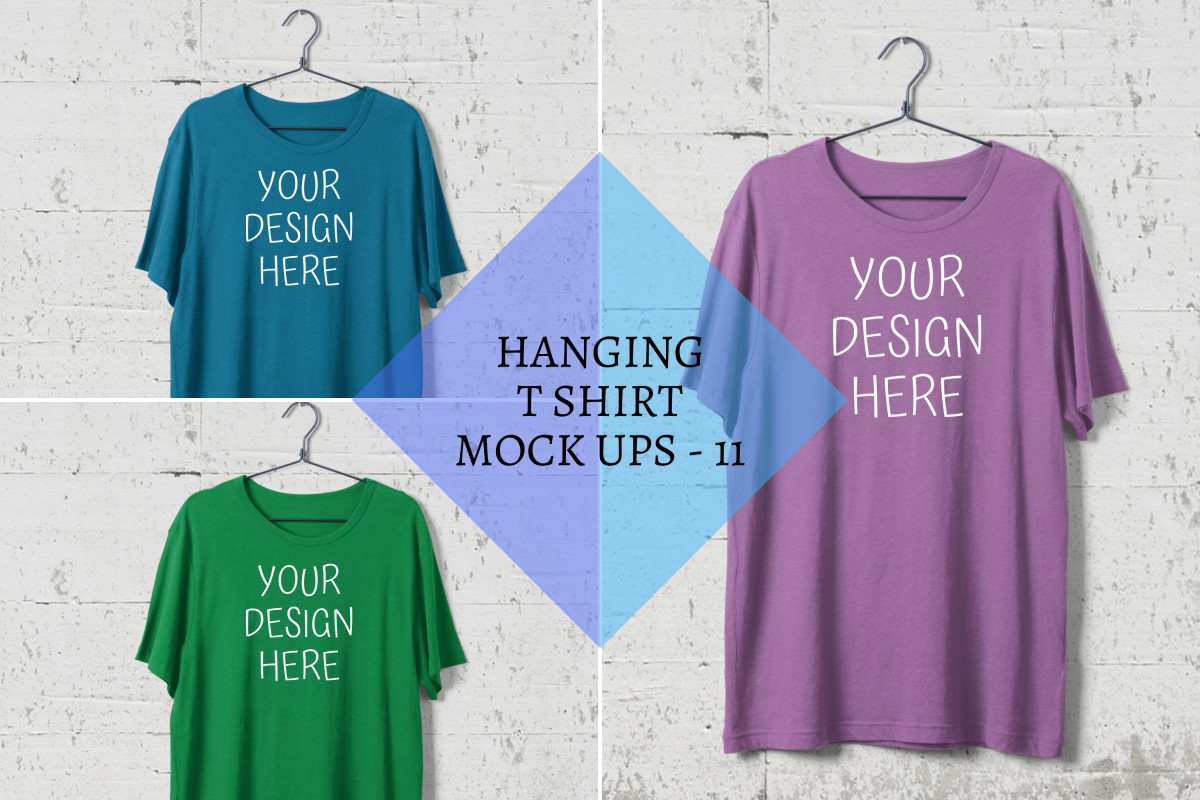 Download Hanging T Shirt Mock Ups Steel Hanger Wall Background Png Design Mockup Free Free Psd Design Psd Template Free
