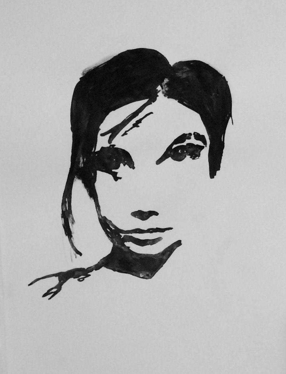 Portraitzeichenkurs Tusche