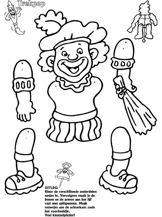 trekpop zwarte piet knutselen sinterklaas sinterklaas