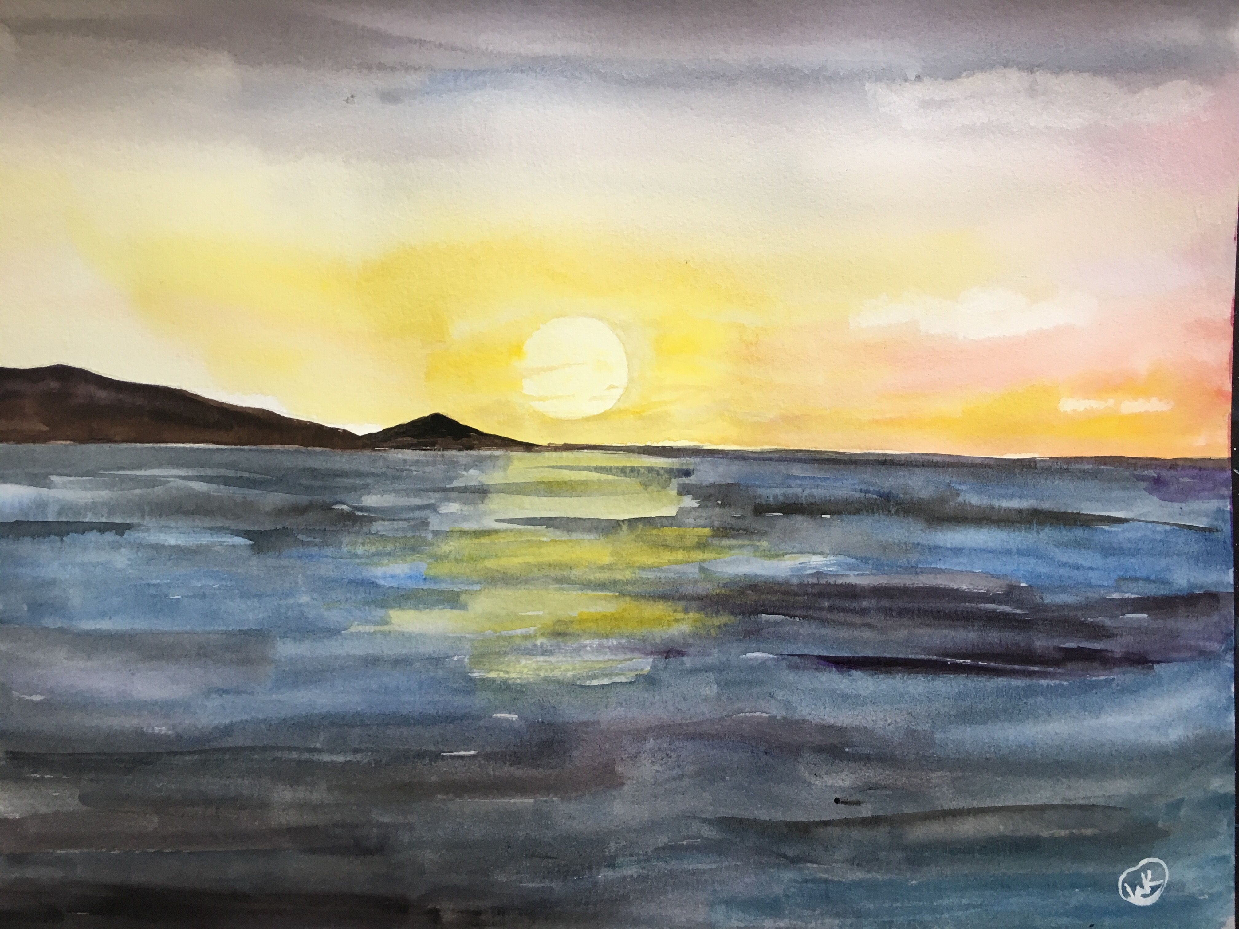 Sunset Watercolor Watercolors Watercolor Sunset Watercolor