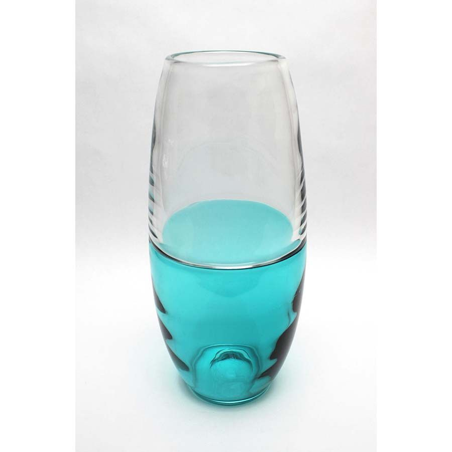 Park Avenue Collection Abey 14In Glass Vase