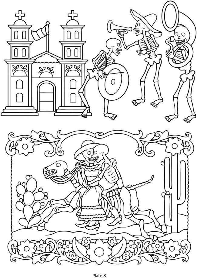 Dia De Los Muertos Line Art Totally Awesome For A Unique Wedding