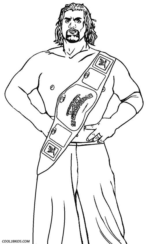Wrestling Coloring Pages Wwe Coloring Pages