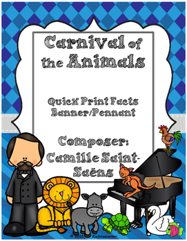 These adorable pennants/banners will spice up your Carnival of the Animals unit. Simply print on sturdy card-stock or tag-board, laminate, and create a bulletin board or a creative banner/pennant. Better yet, let your students brainstorm ideas of how to use this fantastic resource.
