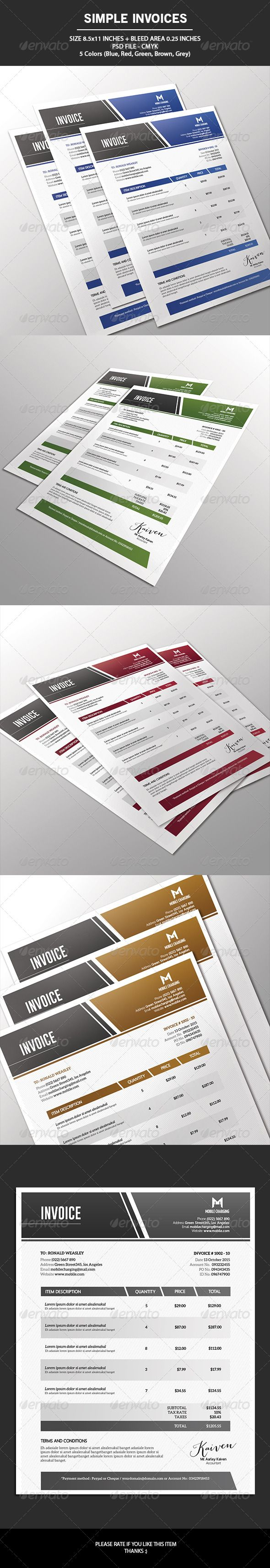 17 best images about invoice design on pinterest | creative, Invoice examples