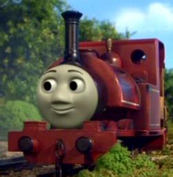 Skarloey is smoking the wrong coal..   Thomas el tren