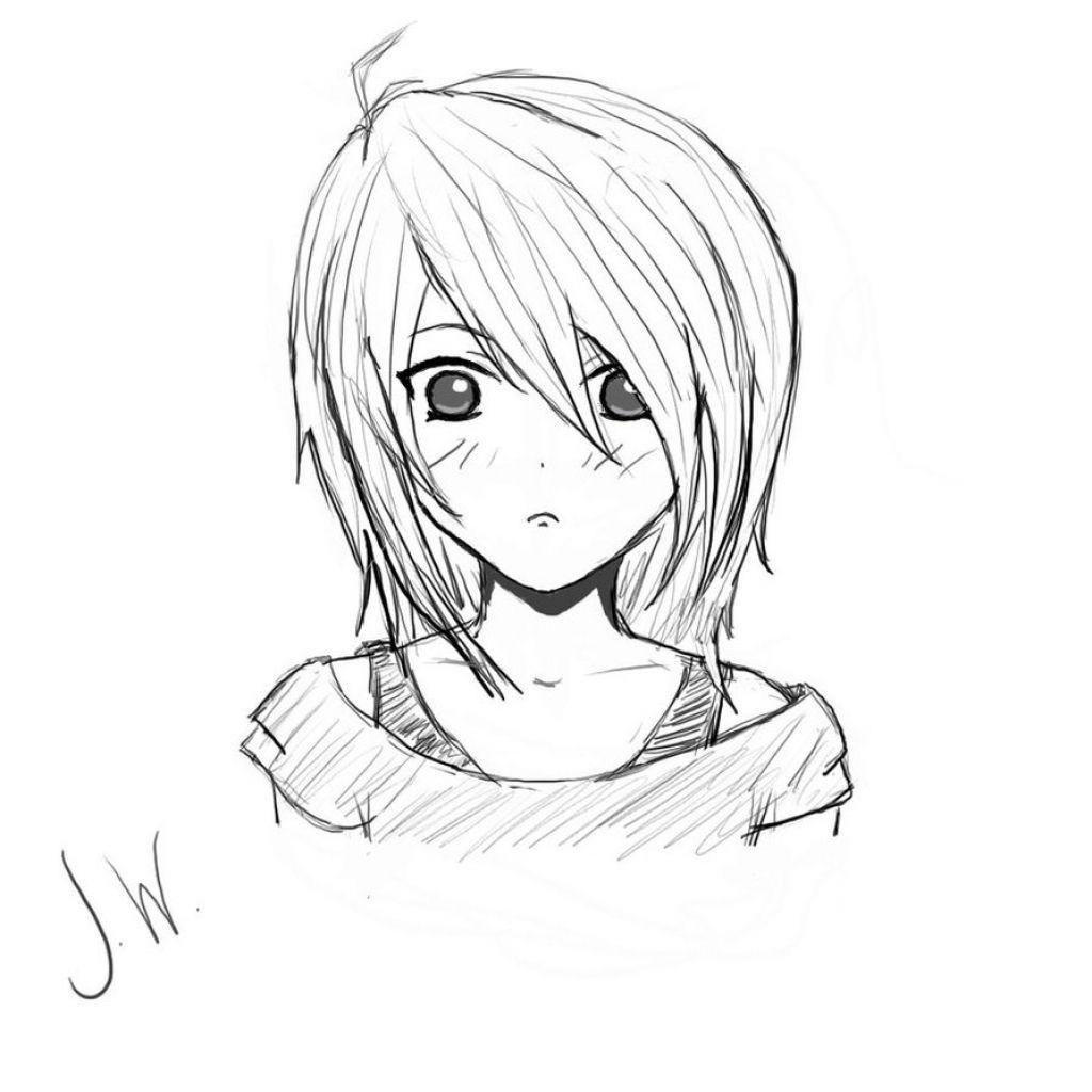 Pin On Anime Art Simple Sketch
