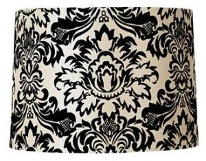 Black white floral lamp shade texture pattern love pinterest black white floral lamp shade aloadofball Choice Image