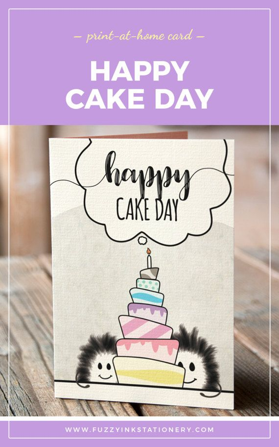 Say Happy Cake Day To That Special Someone In Your Life With This Funny Birthday Card