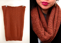 Scarf From a Sweater. Then I could use the sleeves as cuffs to wear with boots!