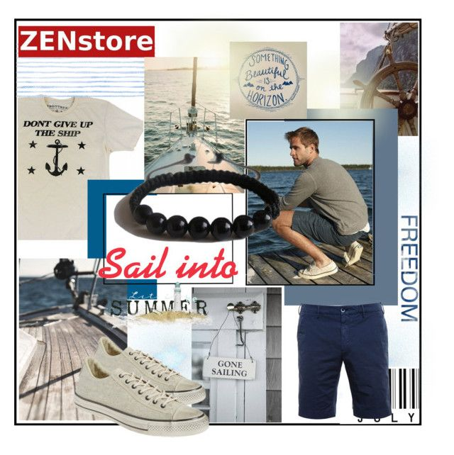 Sail into Summer by zenstore on Polyvore featuring John Varvatos, Shamballa Jewels, men's fashion and menswear
