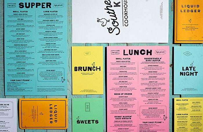 Southern Kin Food Menus By Stebbings Partners Diseno De Menu