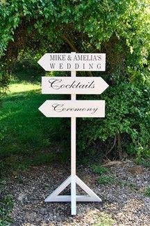 New Wedding Decoration Trend Vintage Sign Posts From Confetti Bridesmagazine Co