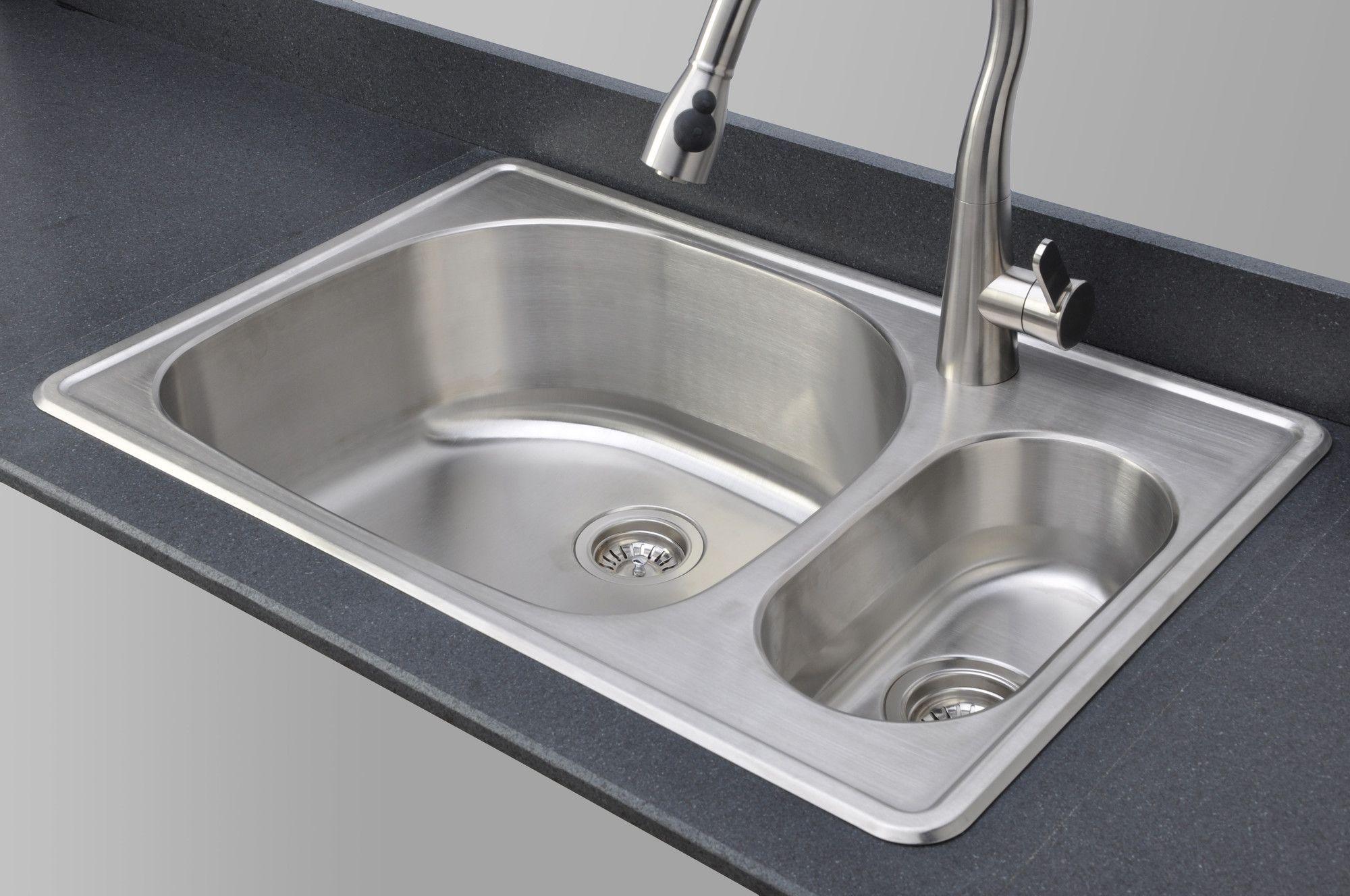 Craftsmen Series 33 X 22 80 20 Topmount Double Bowl Kitchen Sink
