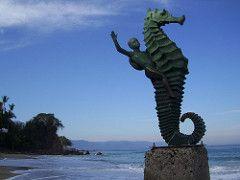 Mermaid Seahorse sculpture - Puerta Vallarta (jebersohn1) Tags: travel mexico puerta vallarta mermaid