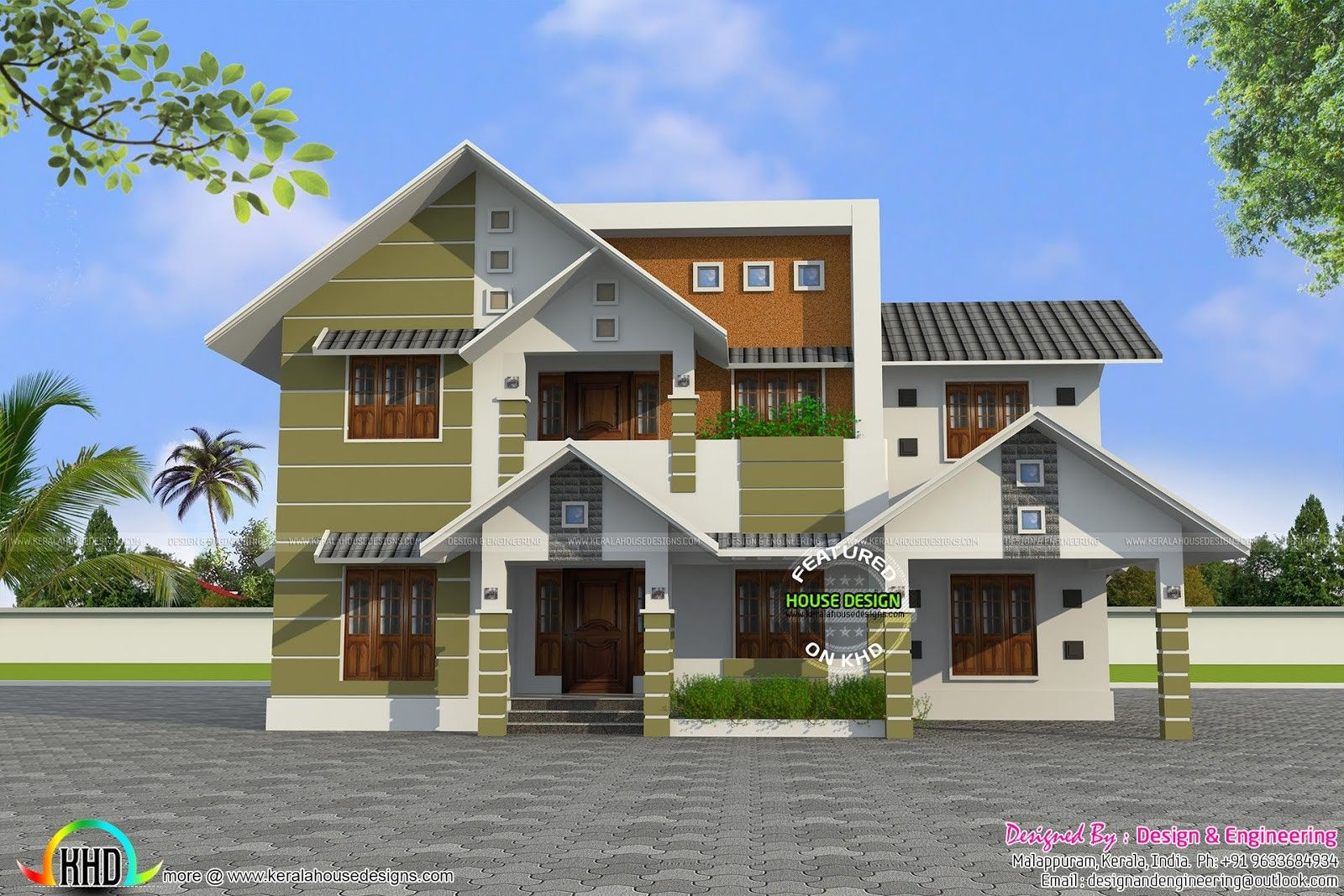 Beautiful Farmhouse In Kerala Pin By Best Free Wallpaper On House And Floor Plan Designs House