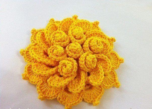 Фото мк цветок крючком