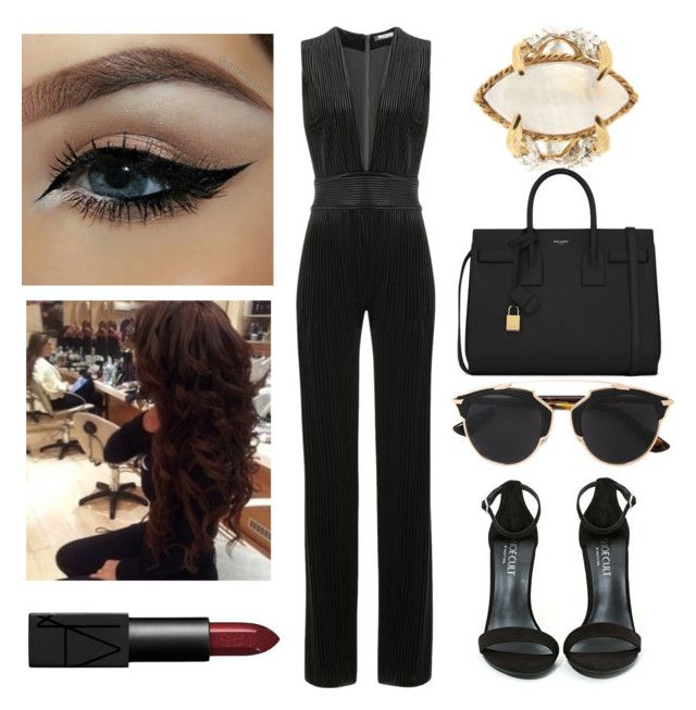 """""""Katherine #43"""" by sejlathemonster on Polyvore featuring Balmain, Tessa Metcalfe, Shoe Cult, Christian Dior, Yves Saint Laurent and NARS Cosmetics"""