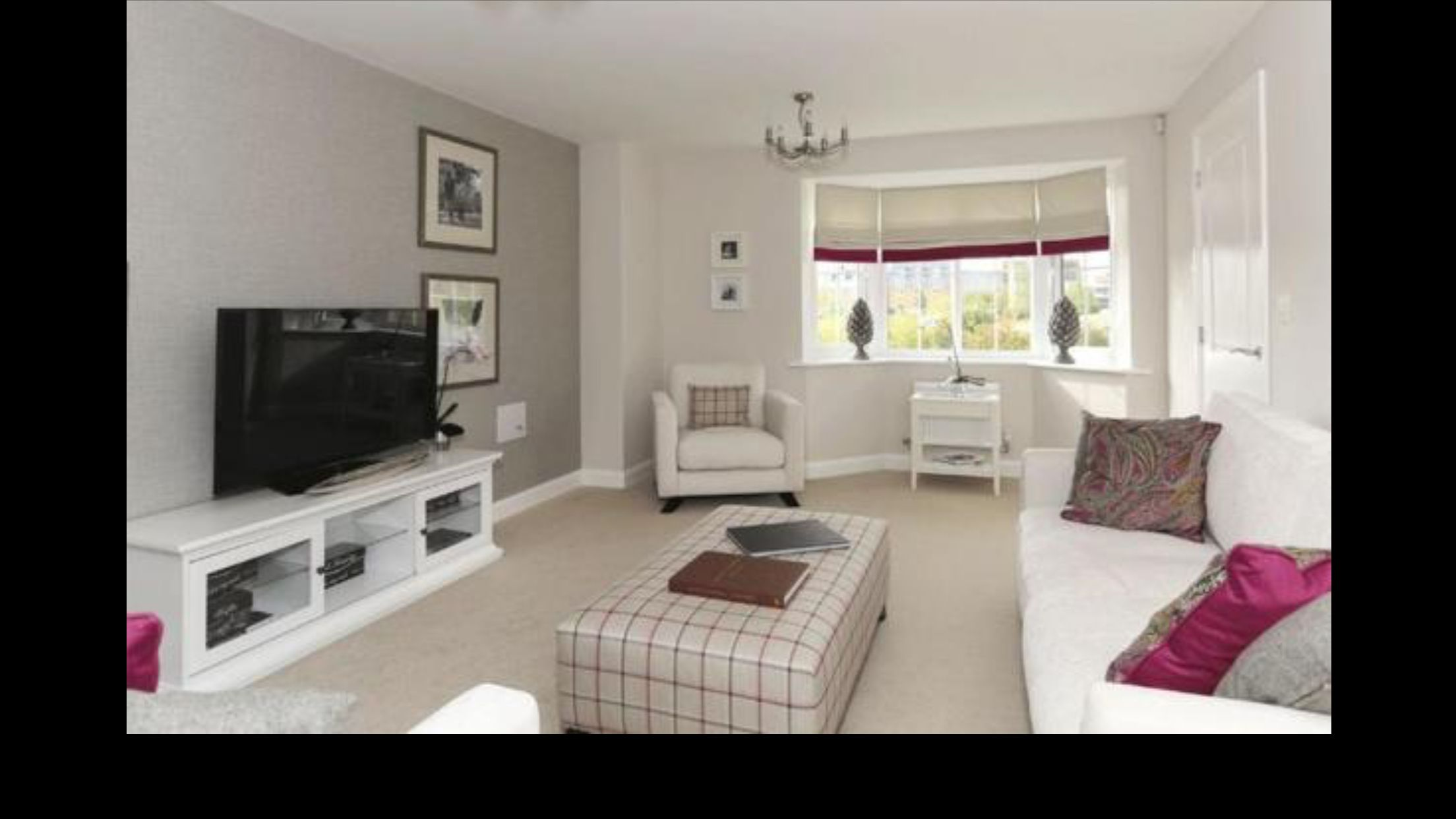 Beautiful Barratt show home with white furniture