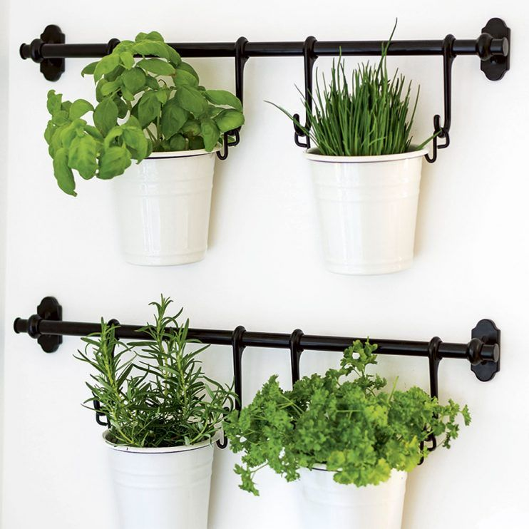 Kitchens Have A Look Around This Airy Country Kitchen Kitchen Plants Hanging Herbs Ikea Hanging Planter