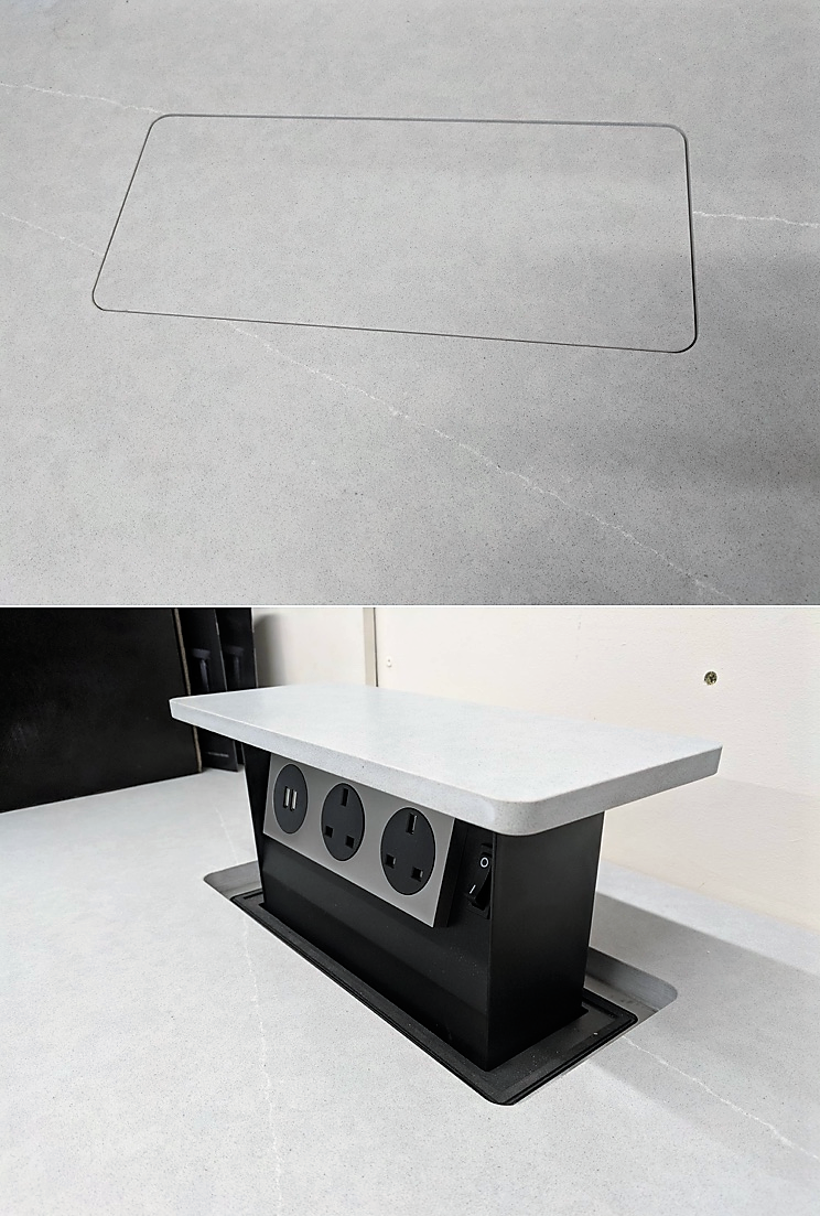 Pop Up Socket Countertops Interior Kitchen Outlets