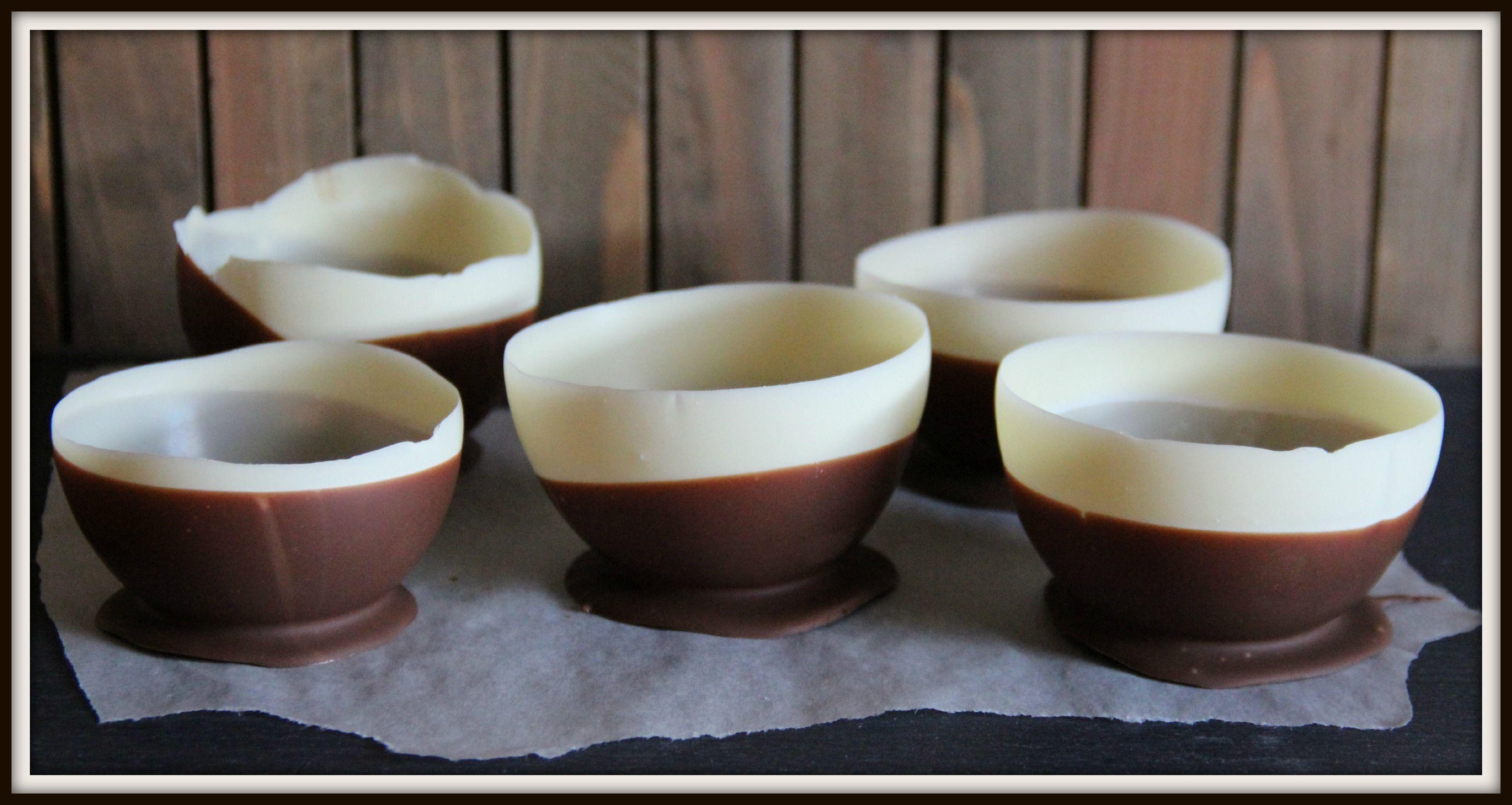 selbstgemachte Schokoladen-Becher