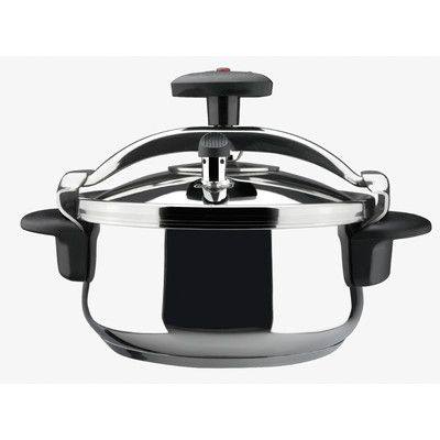 Magefesa Star Belly Stainless Steel Fast Pressure Cooker Size: 6 Qt.