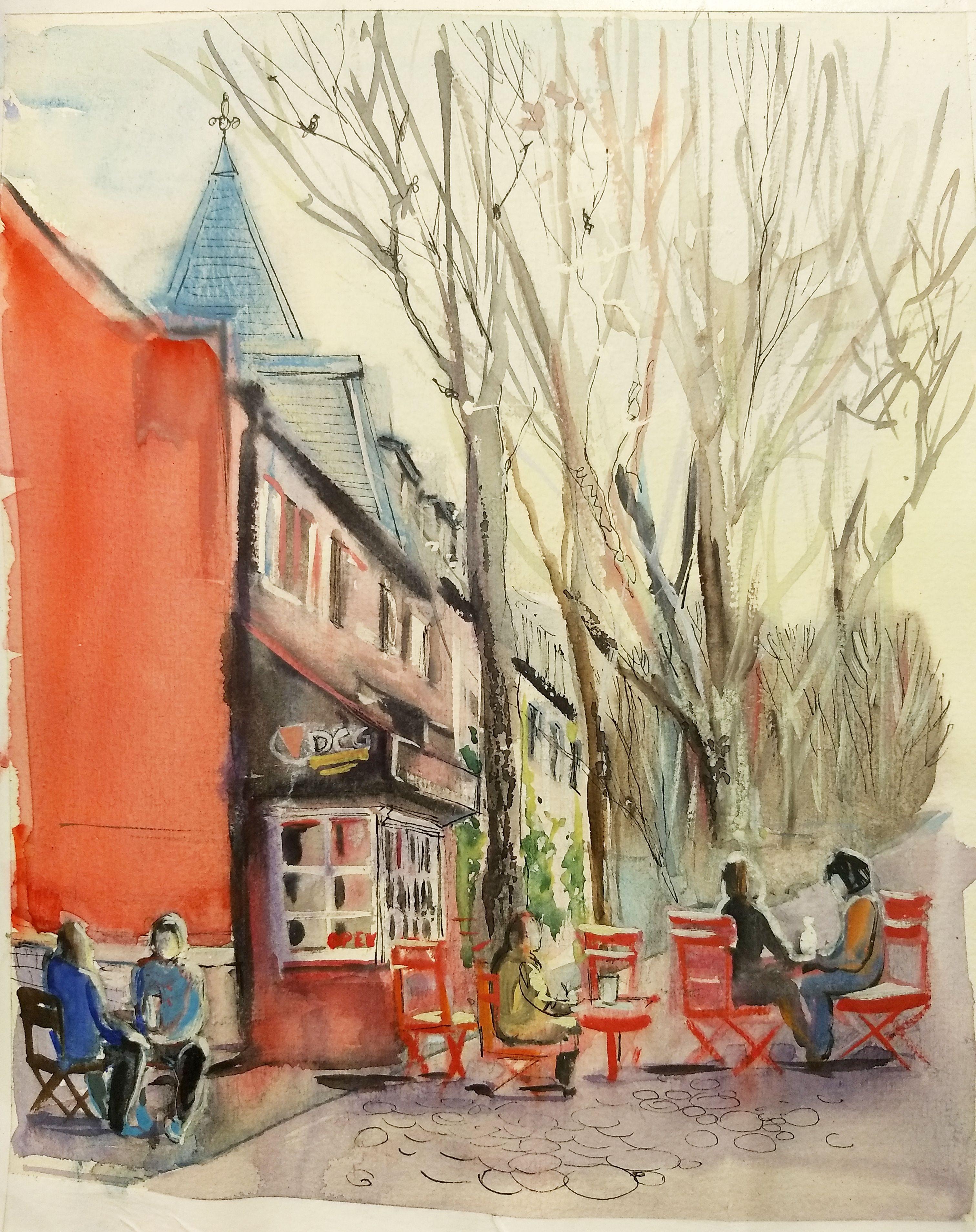 """Spring In DC"" in 2020 Watercolor, Plein air, Painting"