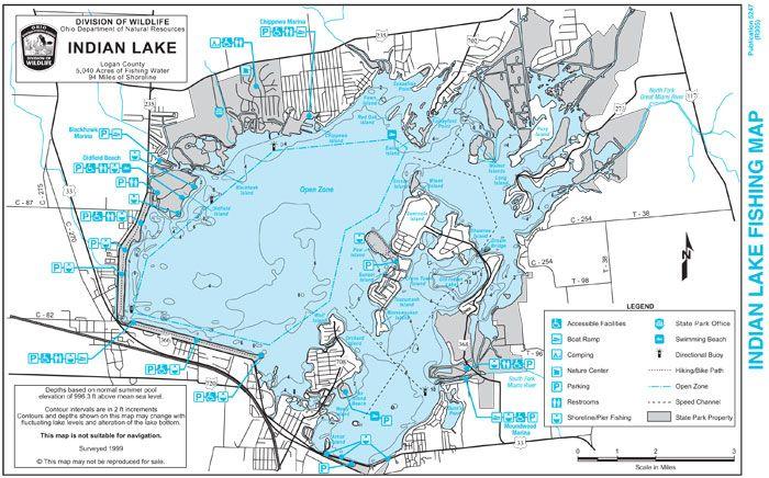 map of indian lake ohio Indian Lake Indian Lake Fishing Map Enhanced Indian Lake Fishing map of indian lake ohio