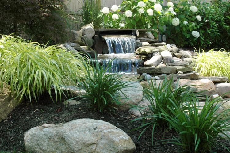Cascade bassin de jardin 27 id es cr er votre havre de paix for Cascade bassin jardin