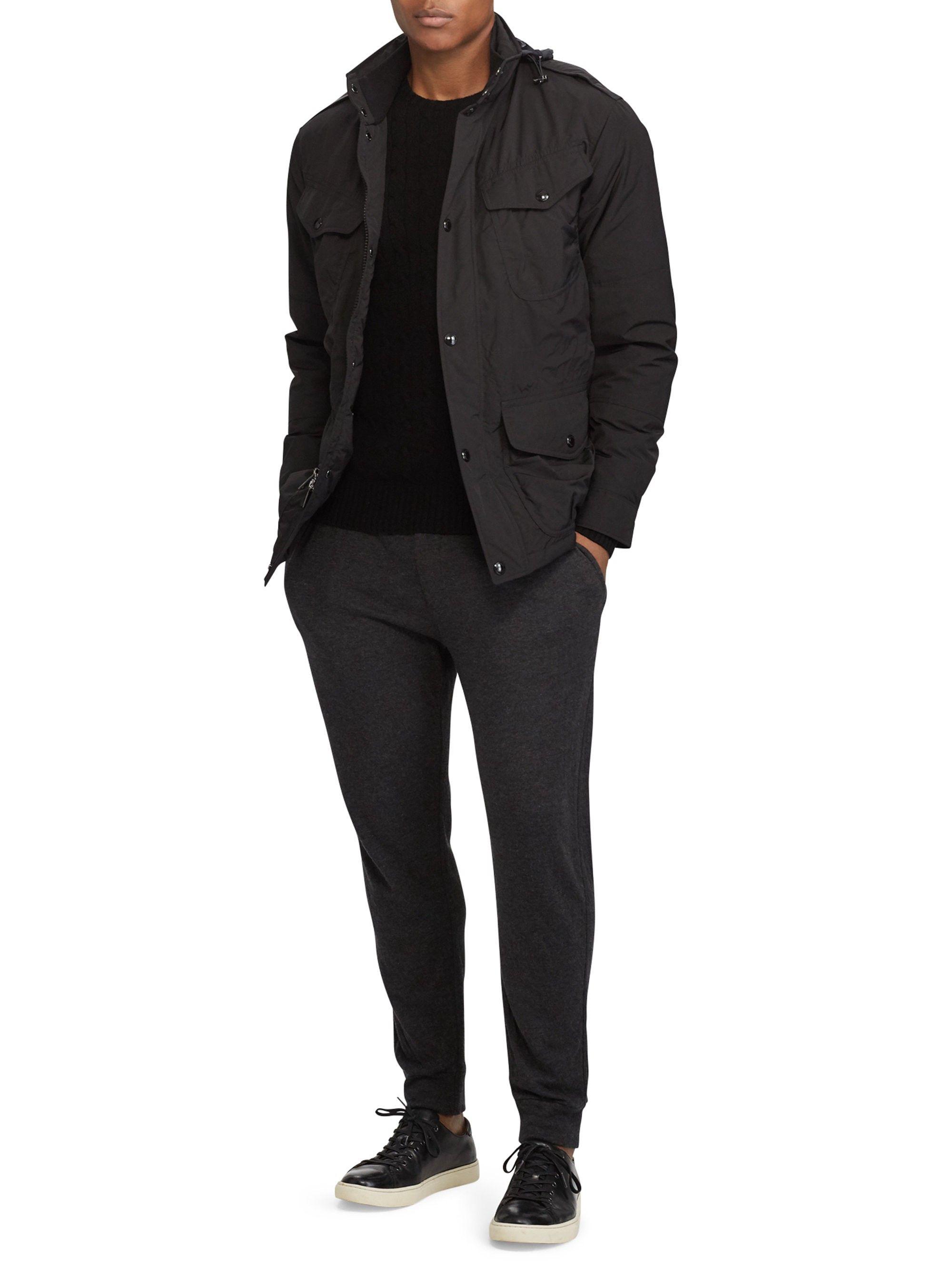 Ralph Lauren Double-Vented Utility Down Jacket - Black X ...