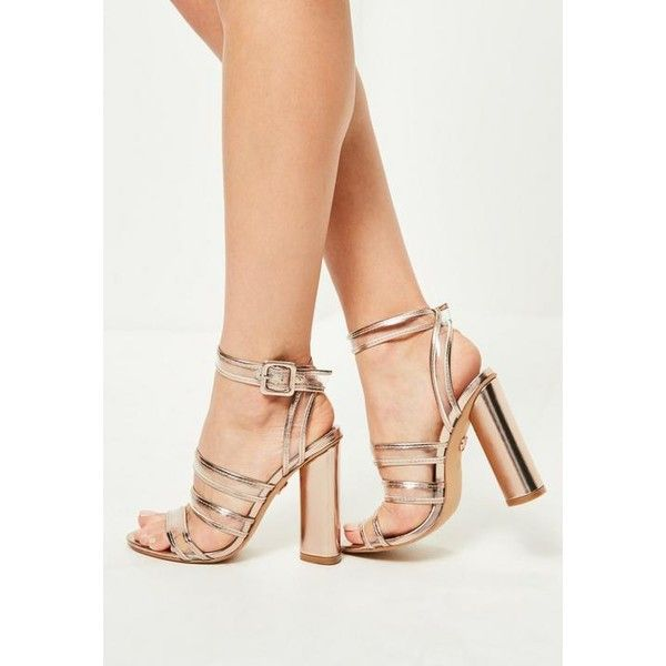 5ffc22f889e Missguided Clear Multi Strap Block Heeled Sandals ( 63) ❤ liked on ...