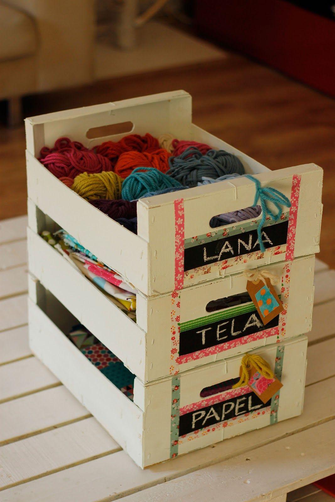 Cajas de fruta recicladas manualidades cajas de fruta - Decorar cajas de madera manualidades ...