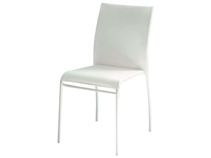 Chaise kite coloris blanc vente de chaise de cuisine for Chaise transparente conforama