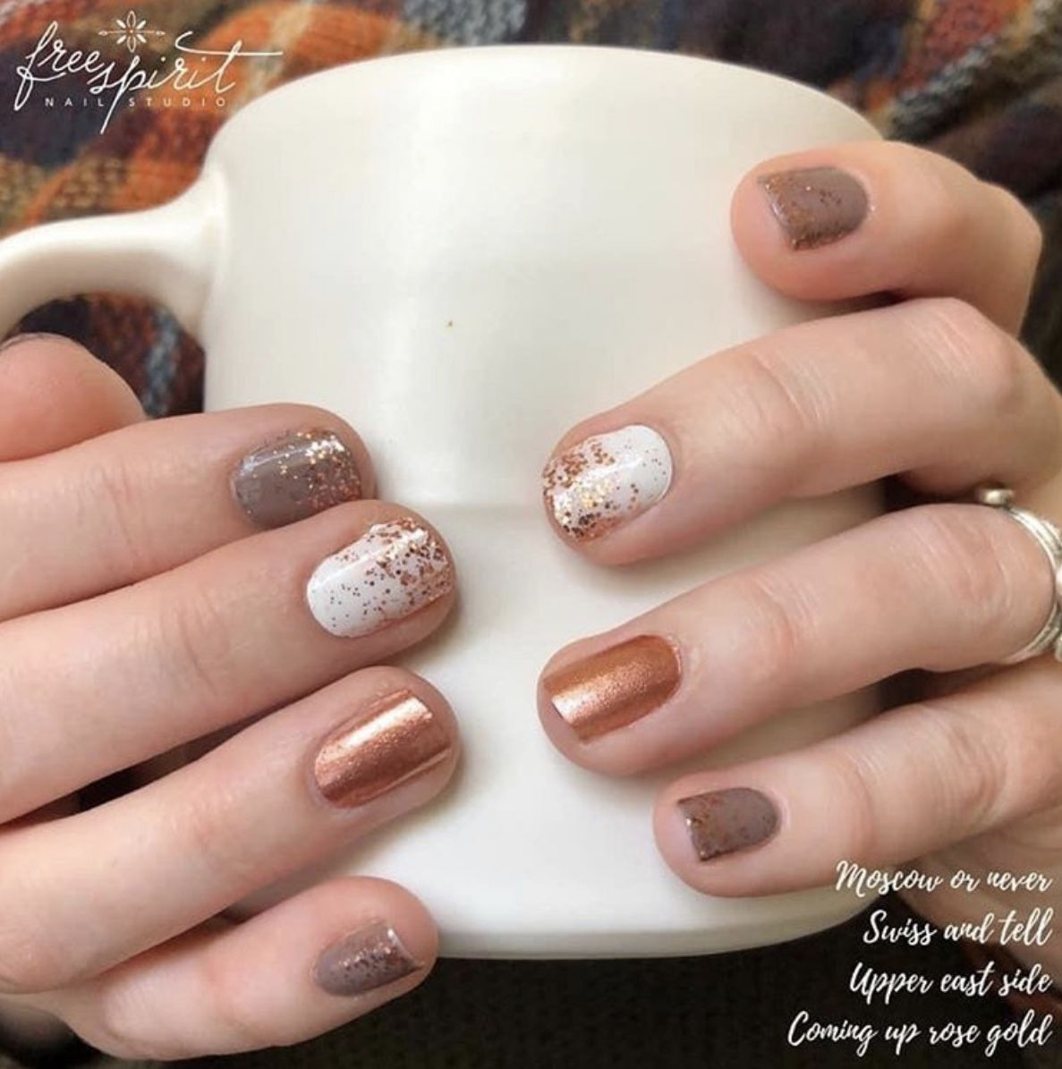 Mixed manicure