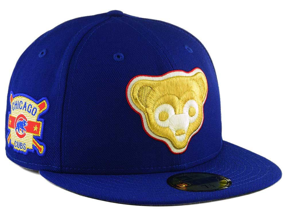 b6ece61c9 Chicago Cubs New Era MLB Exclusive Gold Patch 59FIFTY Cap   Hats ...