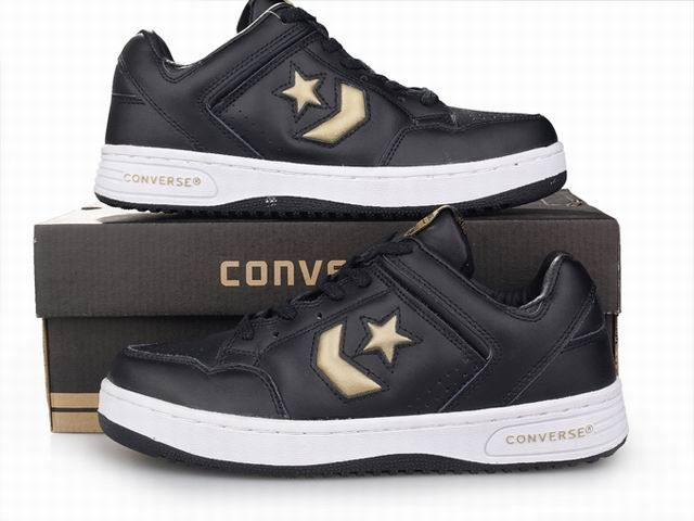 Converse Weapon Low Black Gold Converse Basketball Shoes Basketball Shoes For Men Converse Shoes