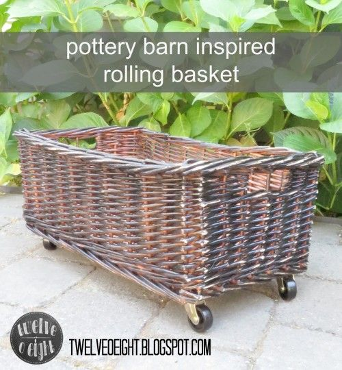 Krylon Black Spray Paint In A Satin Finish All Over The Basket After It Dries Use Sandpaper All Over To Distress And Age The Pottery Barn Inspired Pottery Barn Hacks