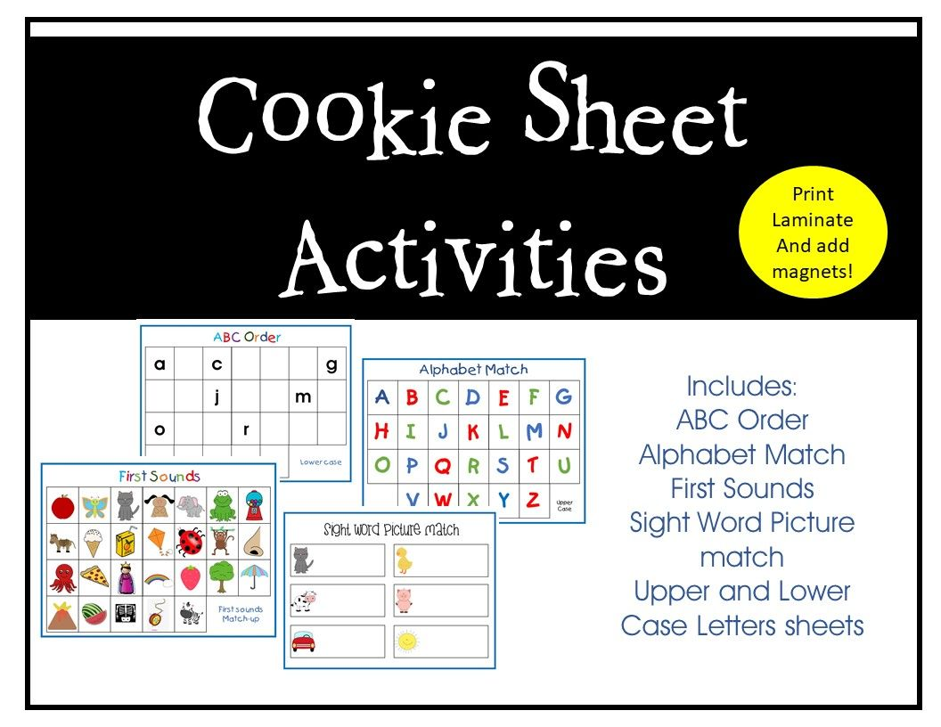 Alphabet Cookie Sheets Are Excellent For Hands On Learning