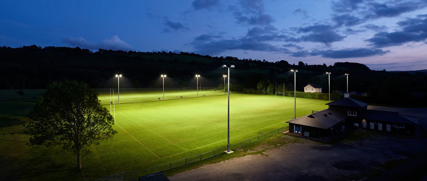 Our Floodlighting Brecon RFC, South Wales. Brecon