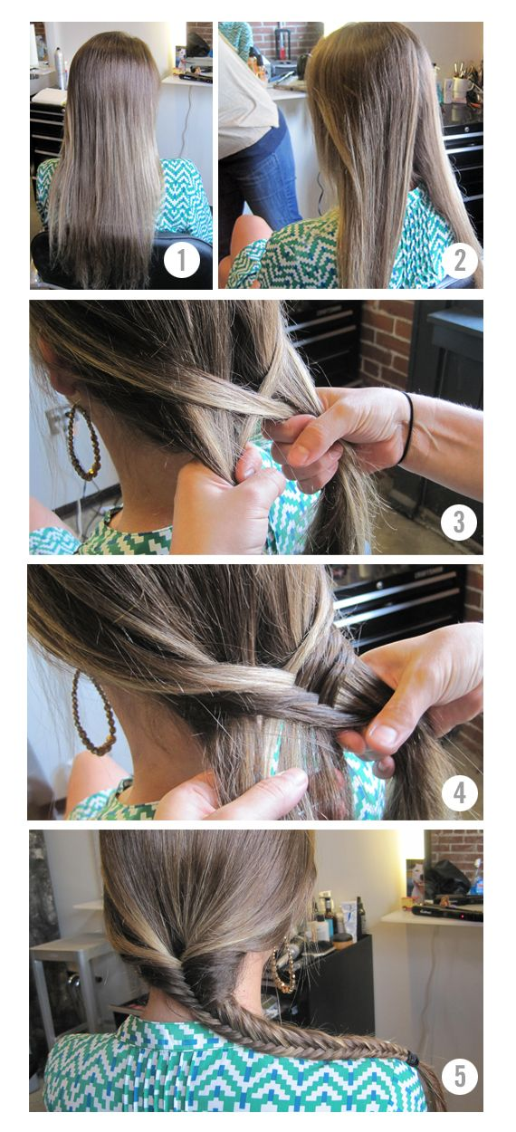 Finally a DIY on fishtail braids that I can follow. Been obsessed for awhile, with the skills of a 5 year old