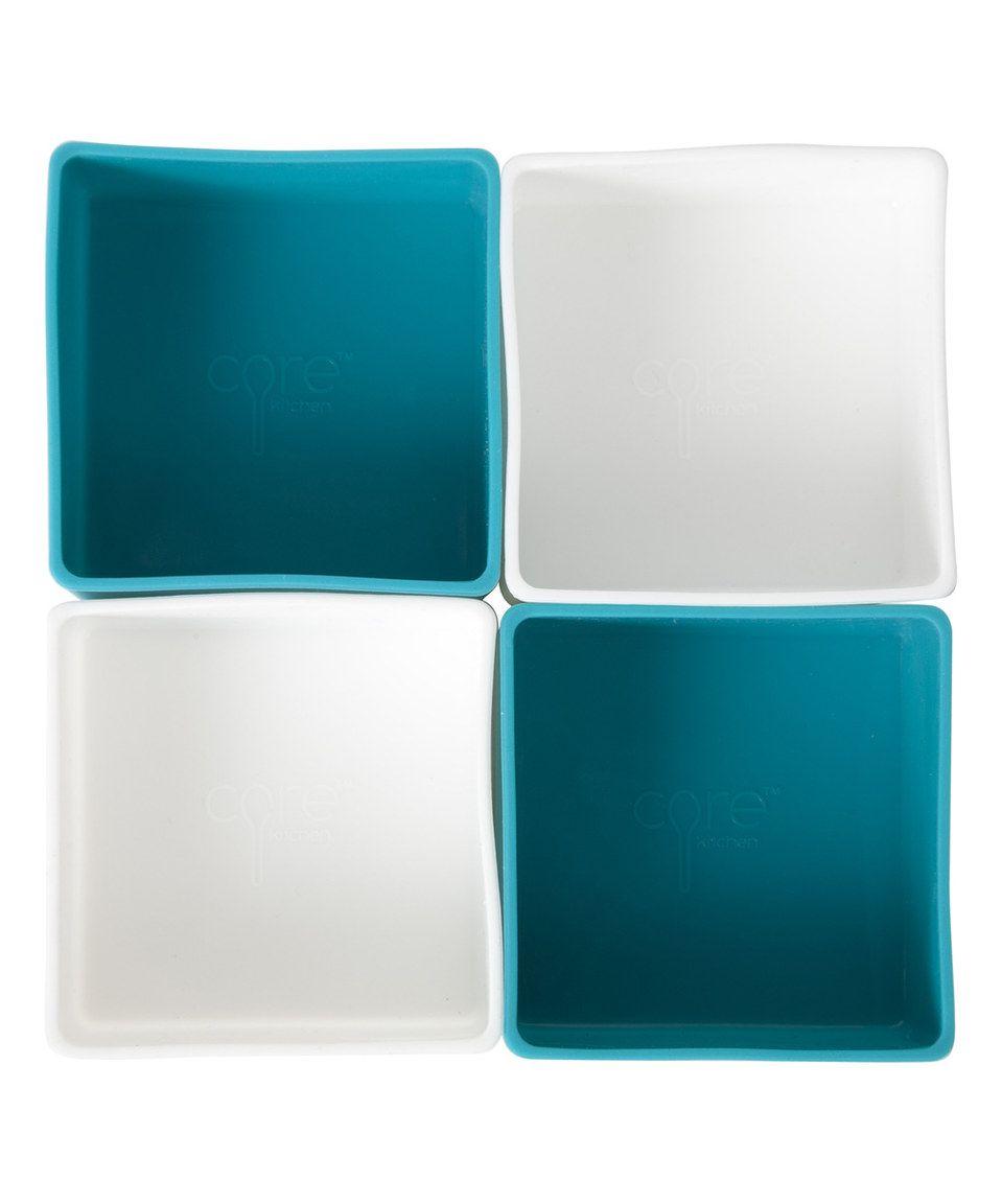 Core Kitchen Teal & White Mini Drawer Organizer - Set of Four ...