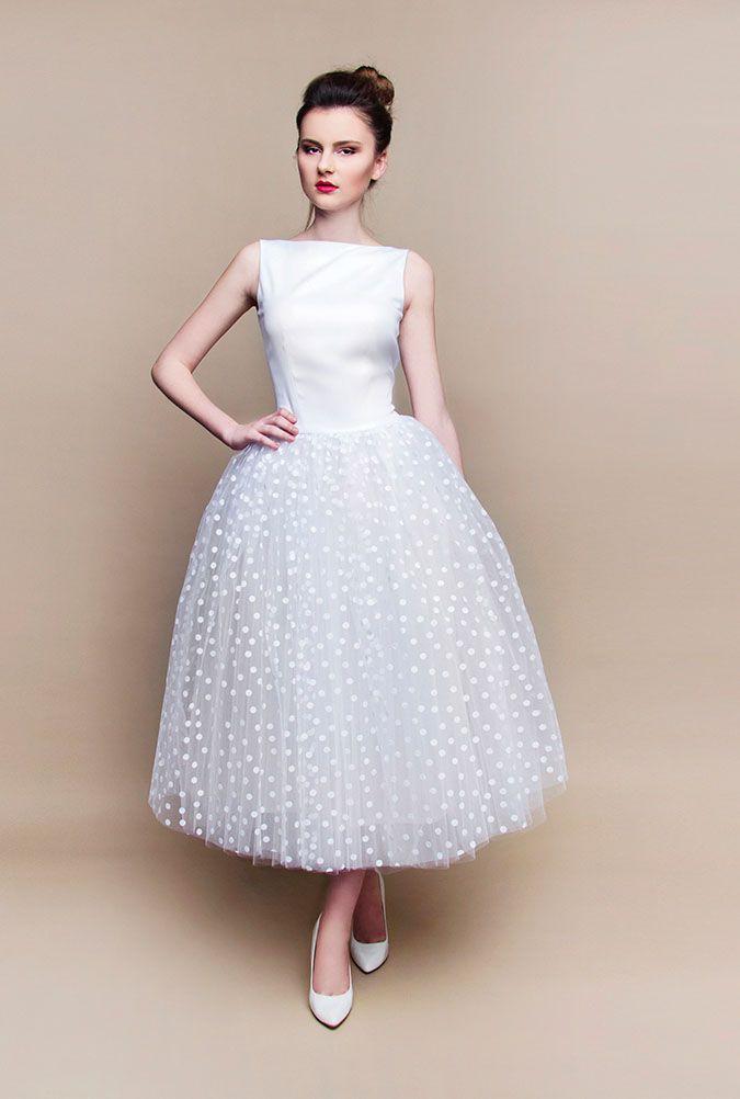 Kleiderfreuden, Brautmode online bestellen - gepunktetes Rockabilly ...