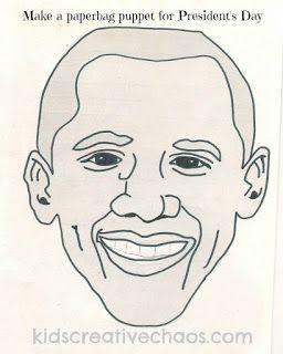 Barack Obama Craft for Kids Paperbag Puppet President's Day #presidentsday #kidsactivity