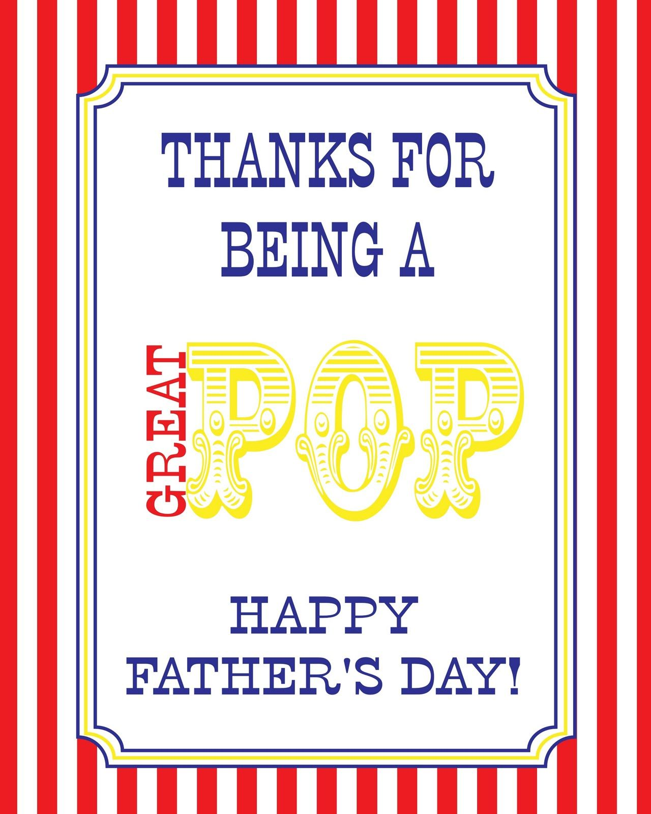 Thanks for being a great pop free fathers day popcorn party free fathers day popcorn party pronofoot35fo Choice Image