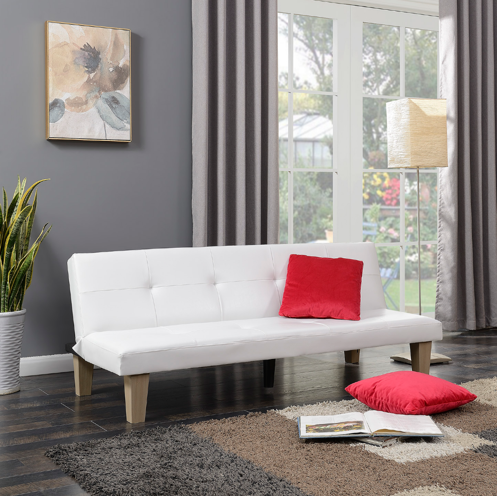 Belleze Convertible Futon Folding Sofa Bed Couch